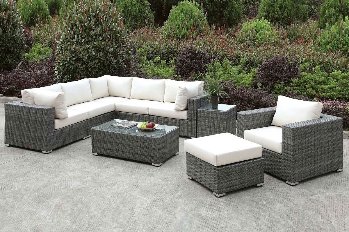 Somani Outdoor L-Shaped Sectional Set (Configuration 8) - Somani Outdoor L-Shaped Sectional Set (Configuration 8) - Outdoor