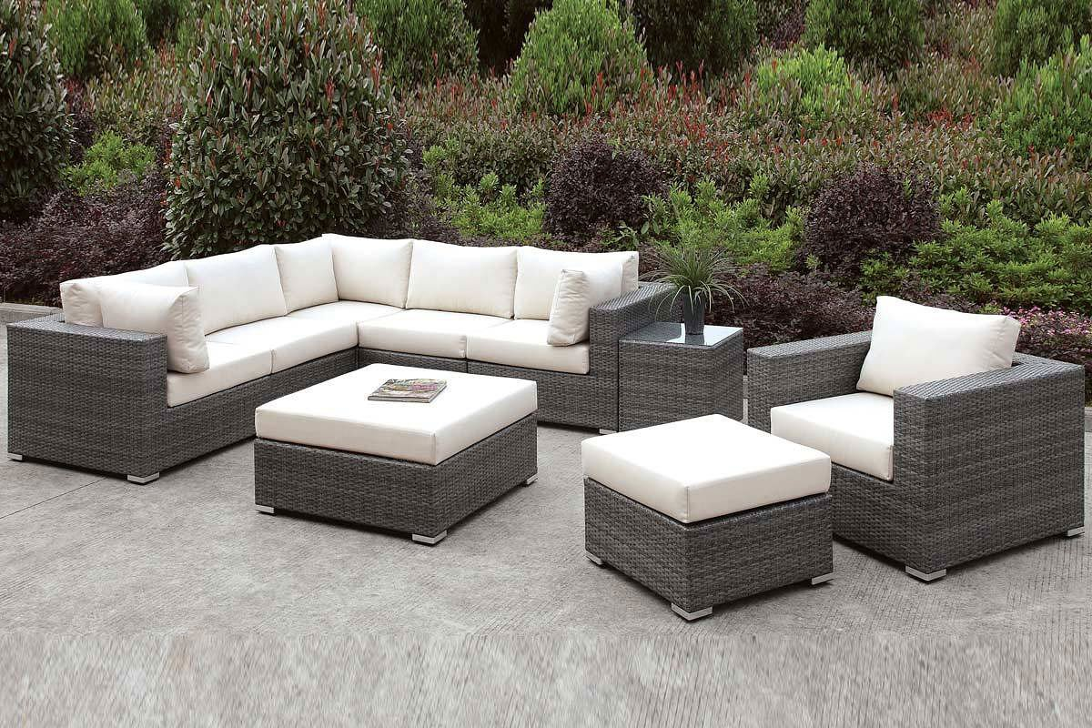 somani outdoor l shaped sectional set configuration 9 outdoor furniture outdoor. Black Bedroom Furniture Sets. Home Design Ideas