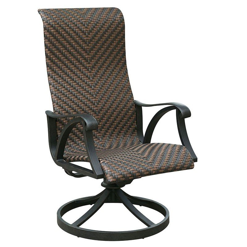 Chiara I Outdoor Swivel Wicker Chair (Set Of 2)