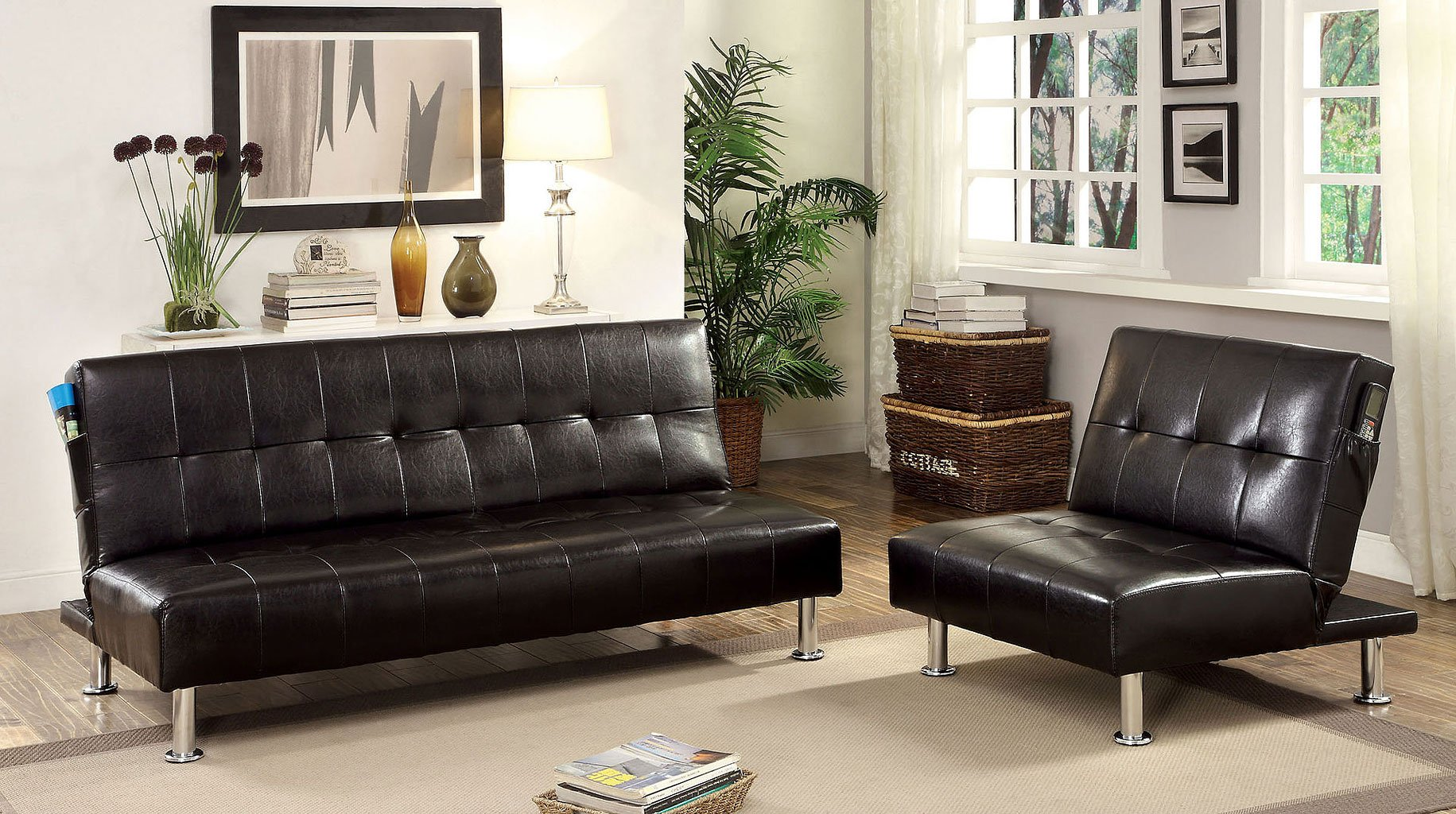 Bulle Living Room Set (Black)