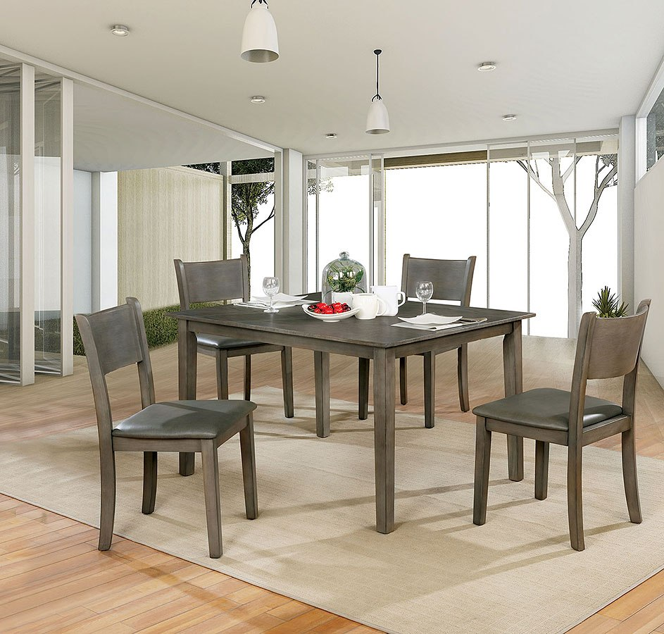 Five Piece Dining Room Sets: Marcia 5-Piece Dining Room Set By Furniture Of America