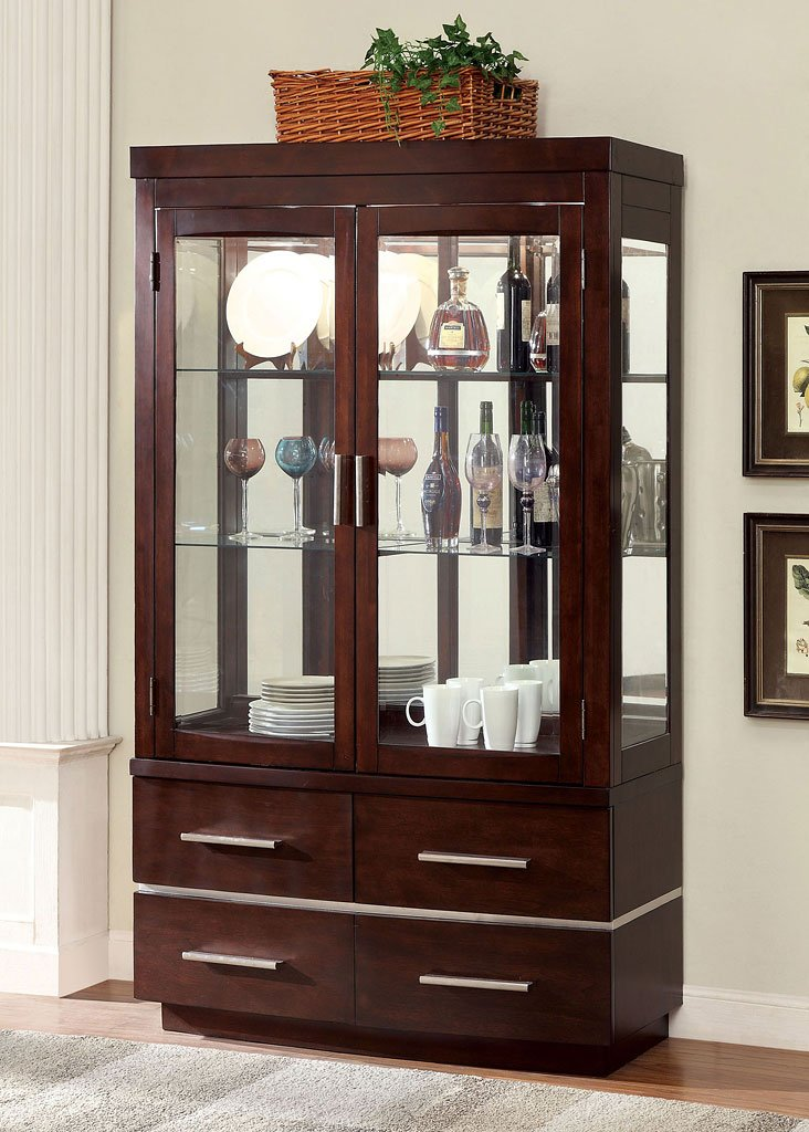 Lawrence Curio Buffet W Hutch China Cabinets And Curios