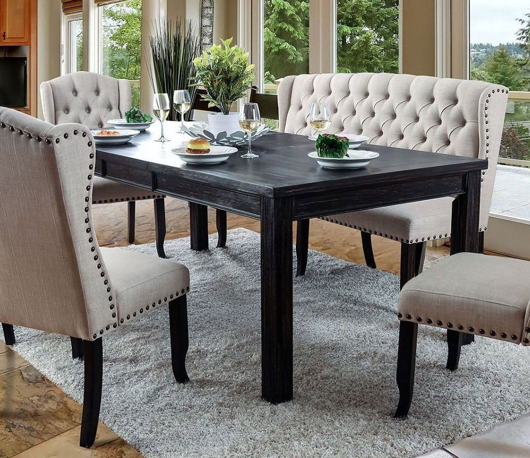 84 inch dining table elegant farmhouse dining sania 84 inch dining table room and kitchen furniture