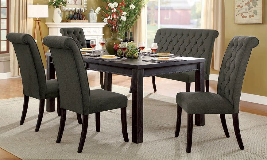 72 inch dining bench extra long sania iii 72inch dining room set w gray chairs and bench