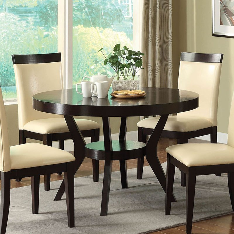 Downtown I Round Dining Table By Furniture Of America
