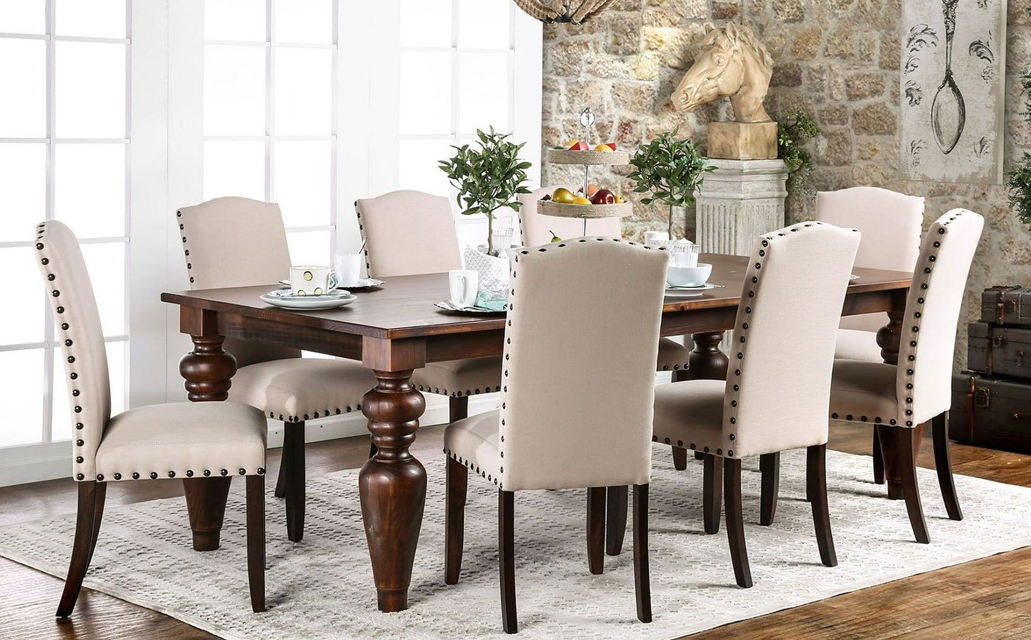 Anapolis 94 inch dining room set formal dining sets for Dining room picture 94