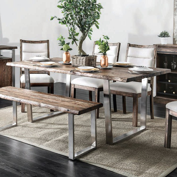 Mandy Dining Table (Oak) By Furniture Of America