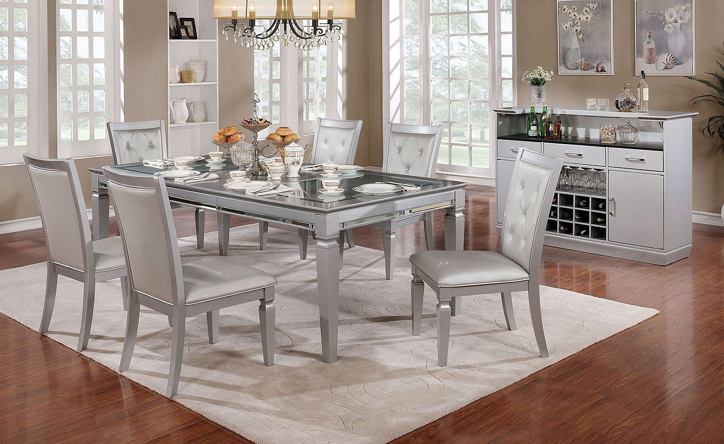 Alena Dining Room Set By Furniture Of America Furniturepick
