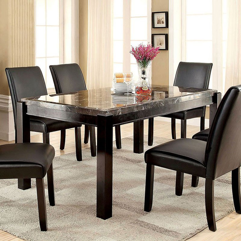 Gladstone I Dining Table W Black Marble Top