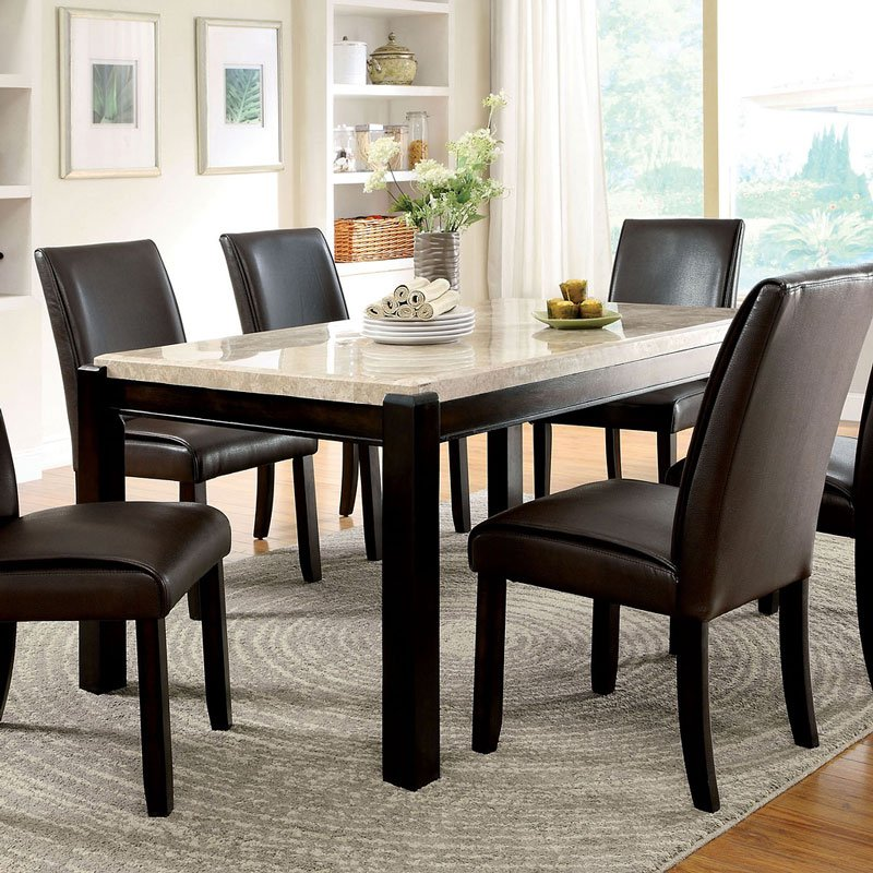 Gladstone I Dining Table W/ Ivory Marble Top By Furniture