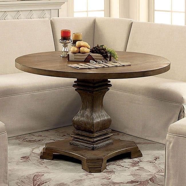 Antique Oak Dining Room Sets: Nerissa Round Dining Room Set (Antique Oak) By Furniture