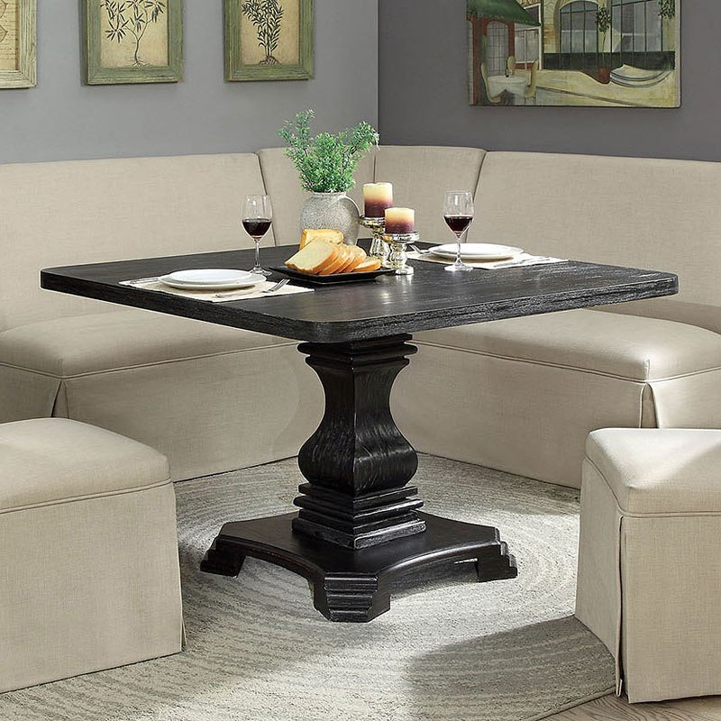 48 Square Dining Room Table: Nerissa Square Dining Table (Antique Black) By Furniture Of America