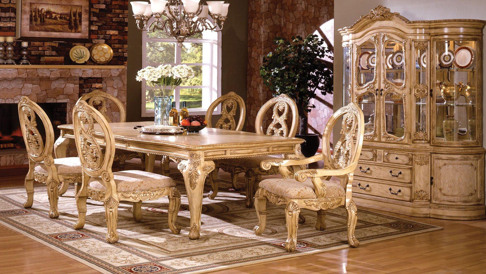 Tuscany II Dining Room Set (Antique White)