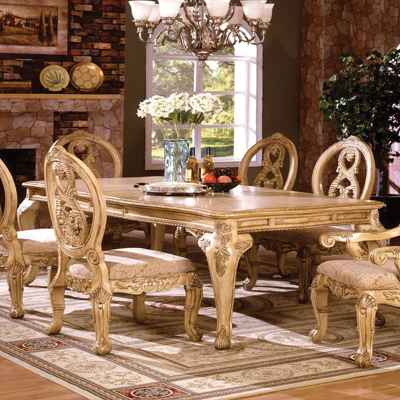 Tuscany II Dining Table (Antique White) By Furniture Of America
