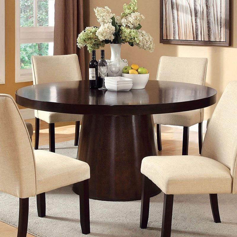 Havana Dining Table: Havana Round Dining Table By Furniture Of America