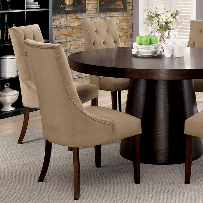 Havana Light Brown Side Chair Set Of 2 By Furniture Of