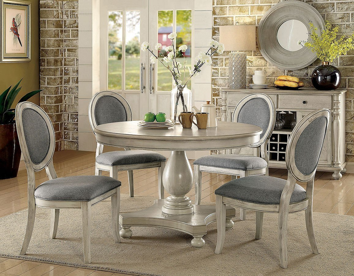 Siobhan Round Dining Room Set (Antique White) By Furniture