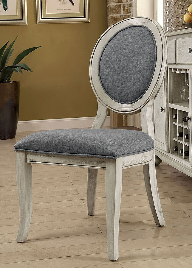 Antique White Dining Room Furniture: Siobhan II Dining Room Set W/ Bench (Antique White / Gray