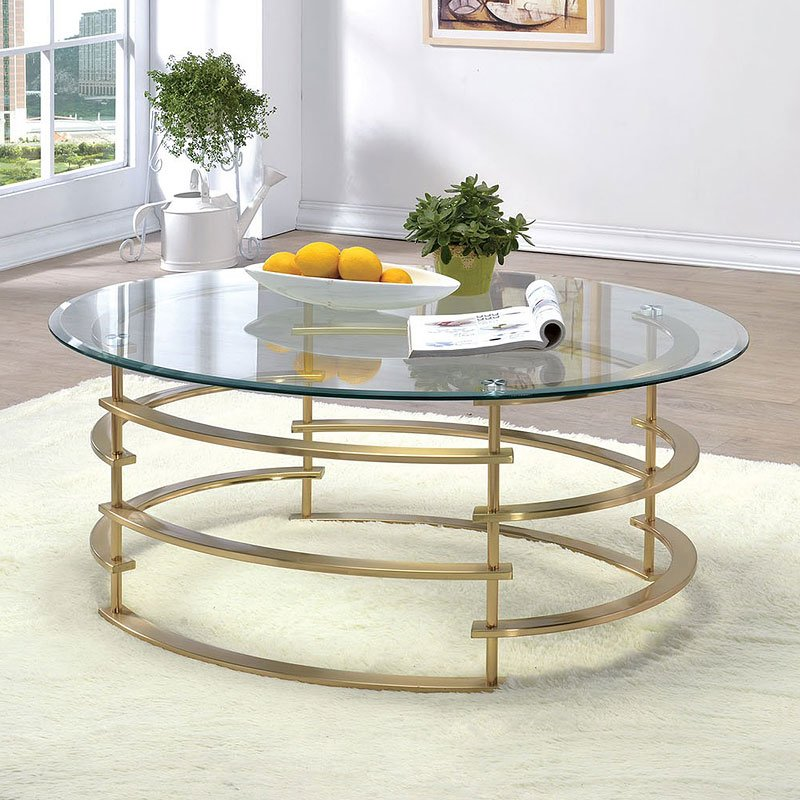 Clonmel Coffee Table Gold Coffee And Cocktail Tables Occasional And Accent Furniture