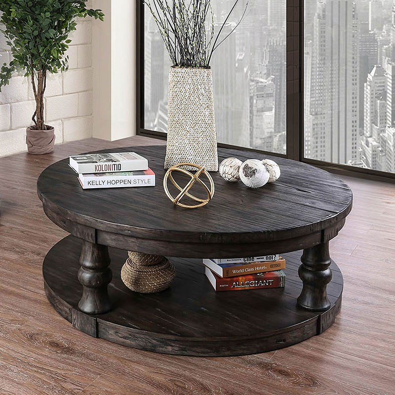 Antique Gray Coffee Tables: Mika Coffee Table (Antique Gray) By Furniture Of America