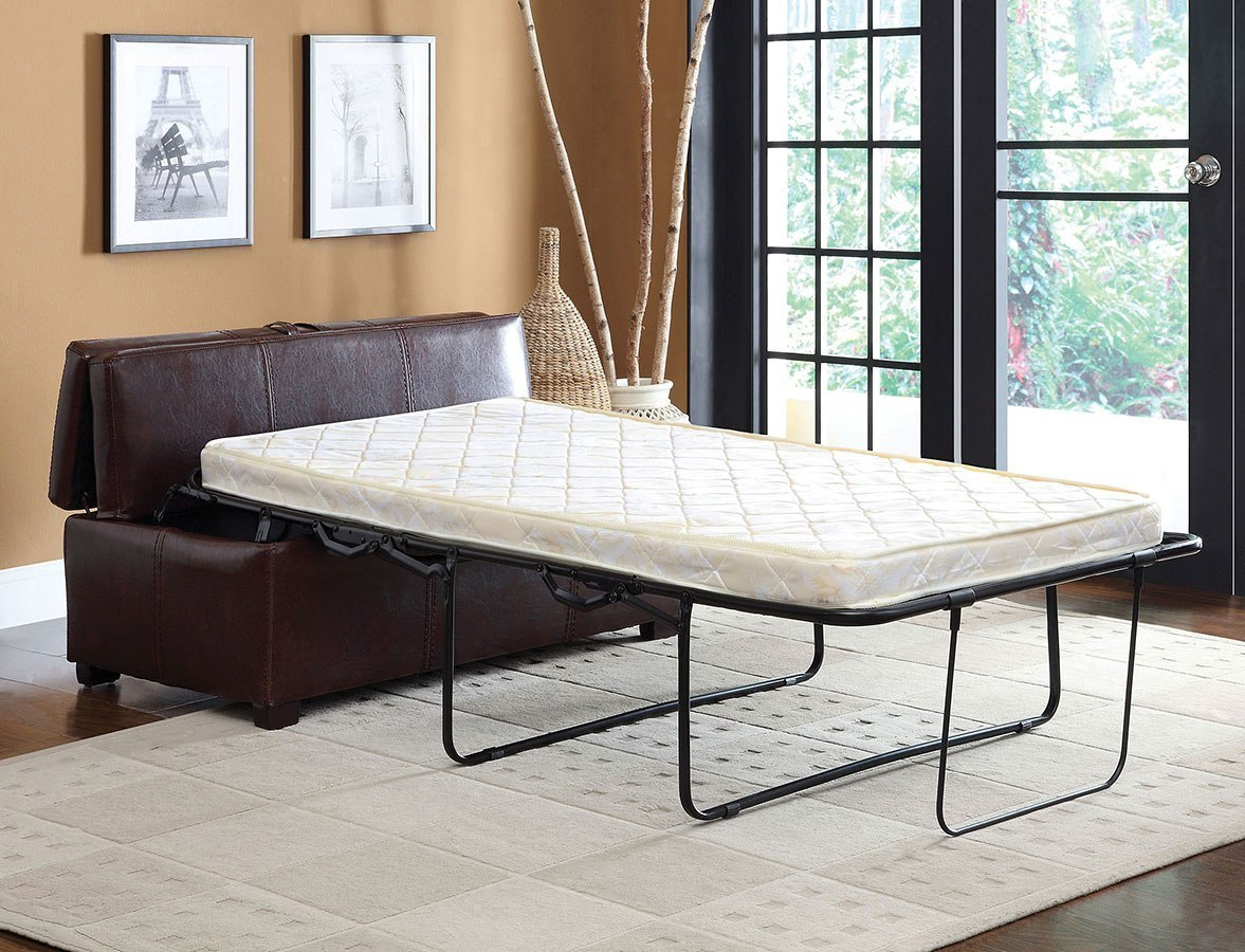 Appoline Ottoman W Pull Out Bed Brown By Furniture Of America