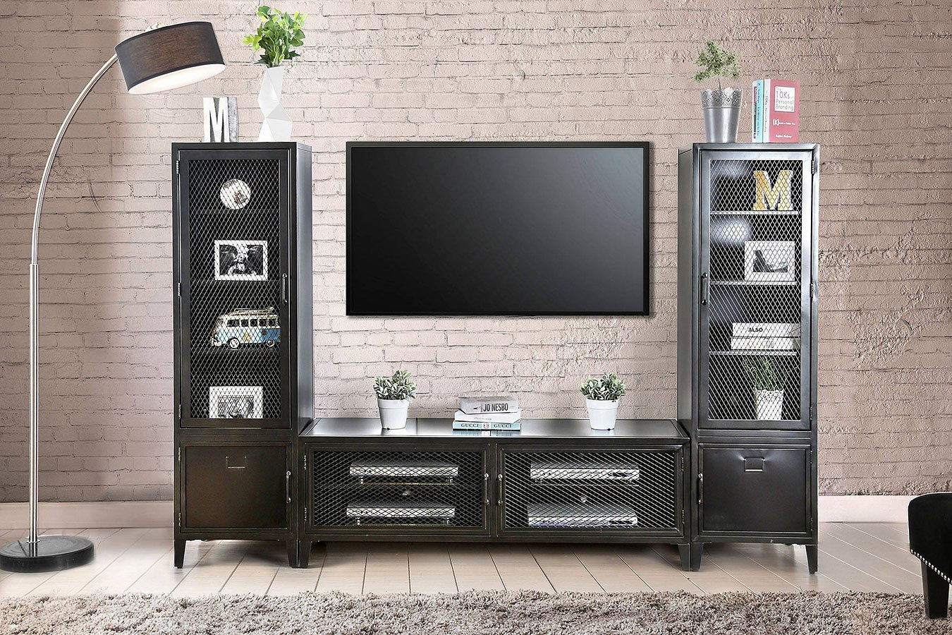 Clonakitty Entertainment Wall W 60 Inch Tv Stand By Furniture Of