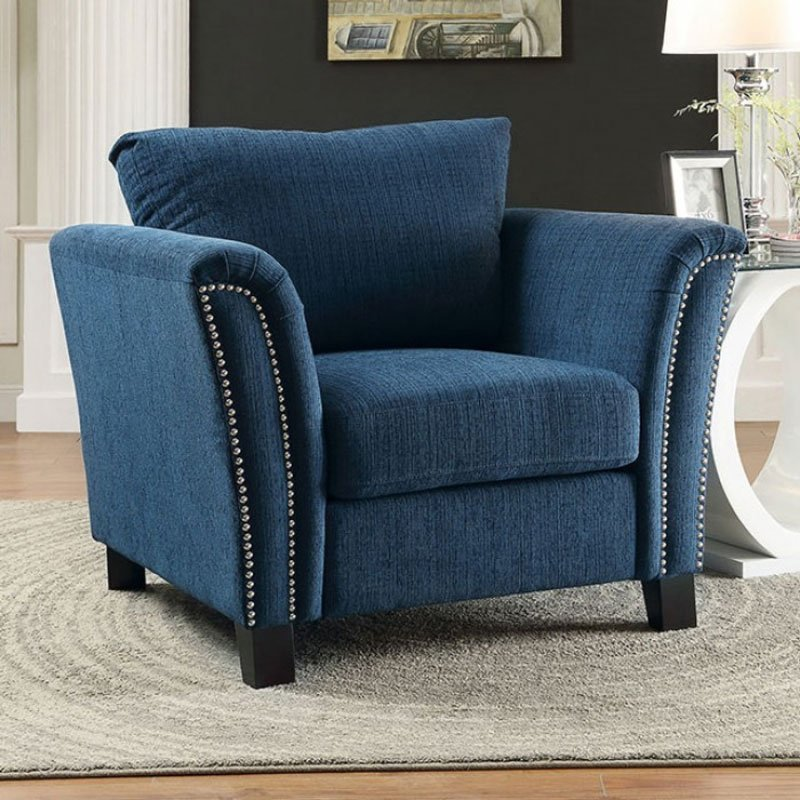 Campbell Chair Dark Teal By Furniture Of America