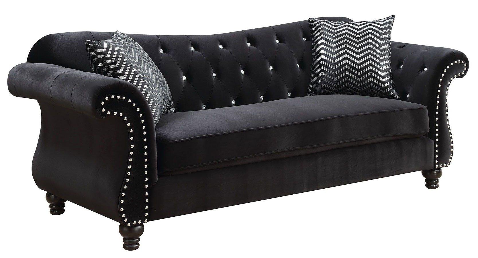 Jolanda Living Room Set Black By Furniture Of America 1 Reviews