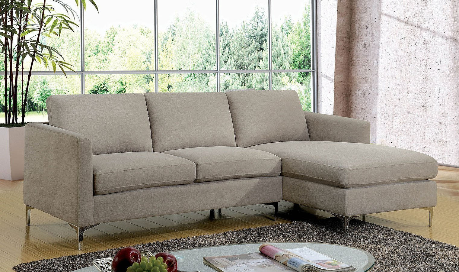 Sandy Sectional By Furniture Of America Furniturepick