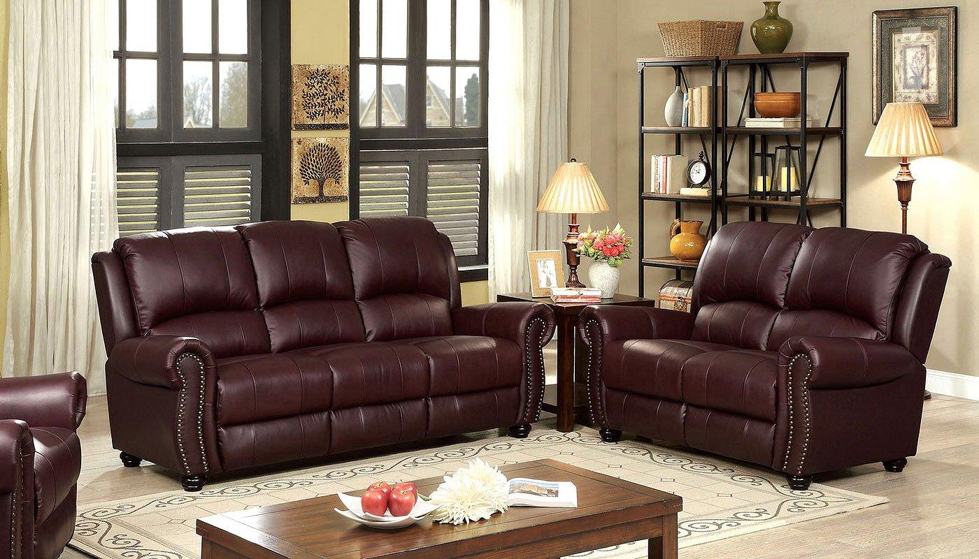 Turton Living Room Set Burgundy Living Room Furniture