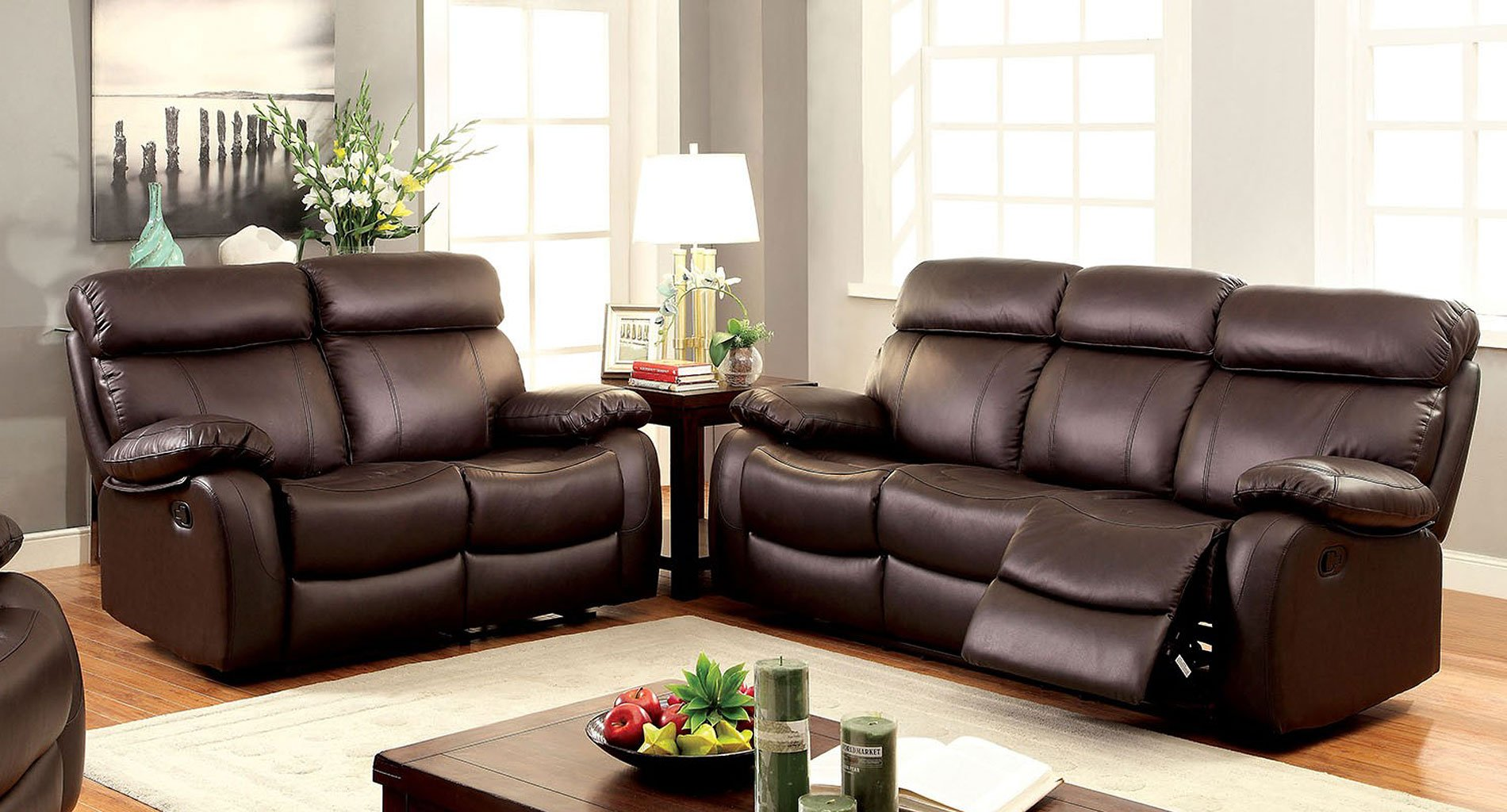 Myrtle reclining living room set living room sets Reclining living room furniture