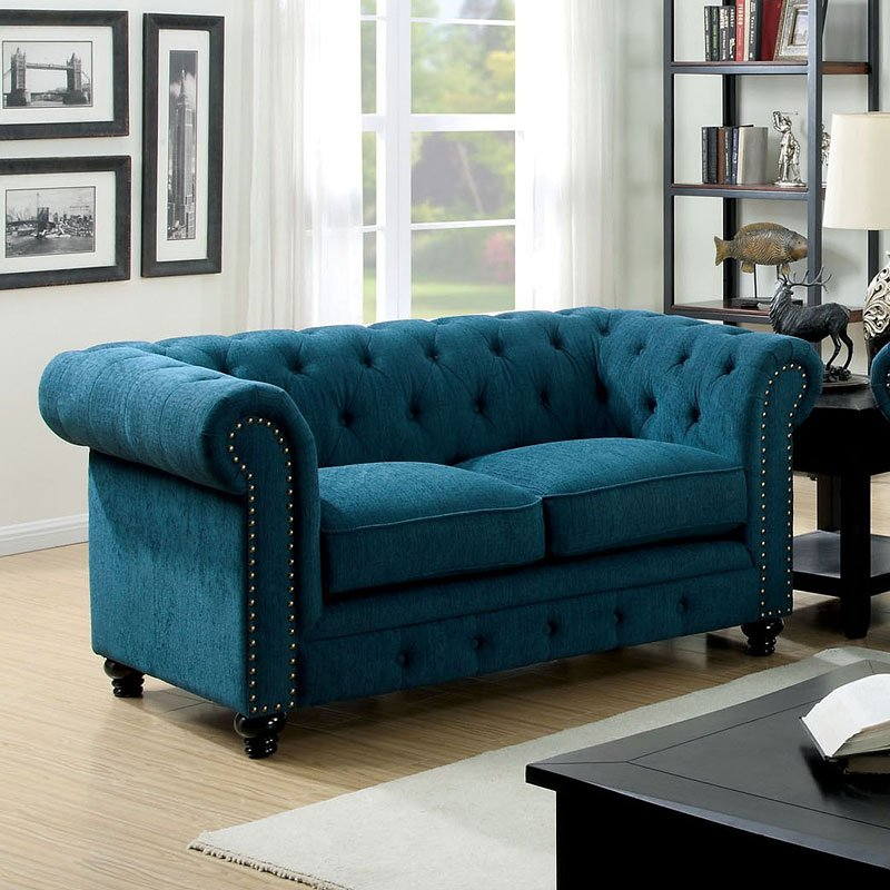 Stanford Loveseat Dark Teal Loveseats Living Room