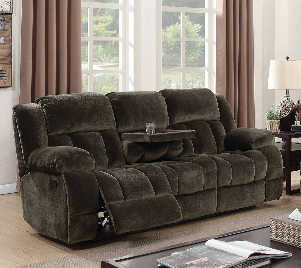 Sadhbh Reclining Sofa W Fold Down Table Living Room Furniture