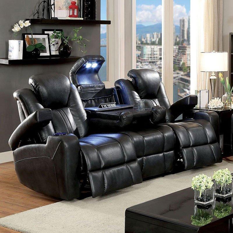 Zaurak Power Reclining Living Room Set by Furniture of America ...