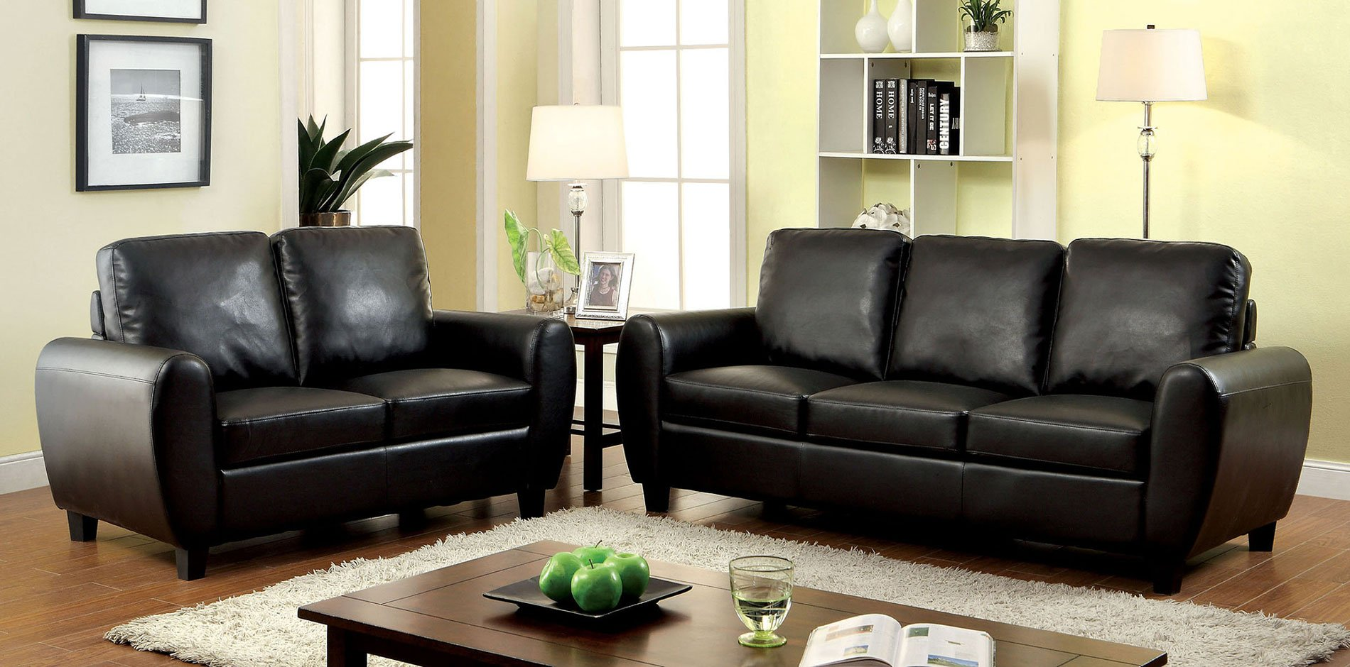 Hatton Living Room Set (Black)