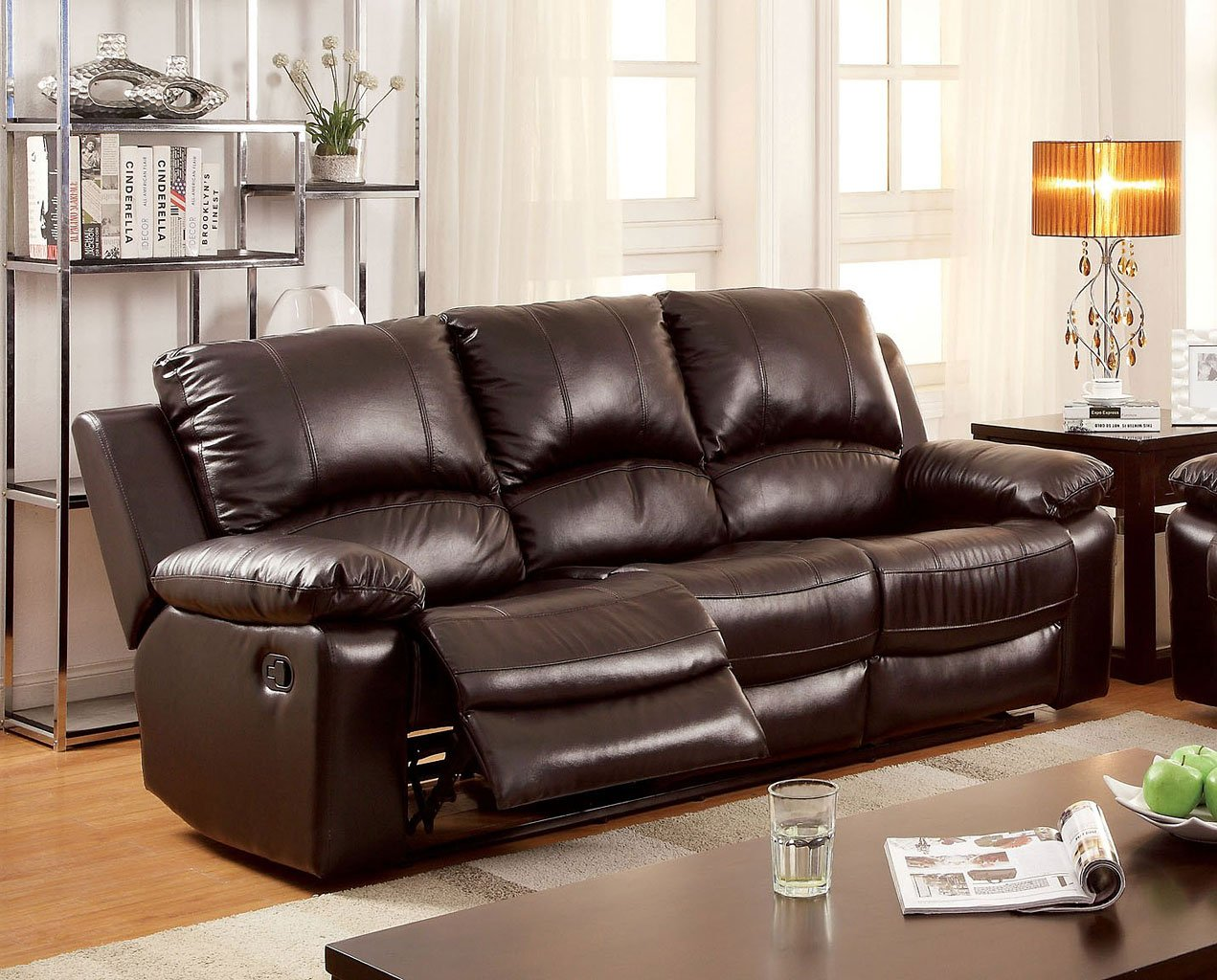 Davenport Reclining Sofa By Furniture Of America