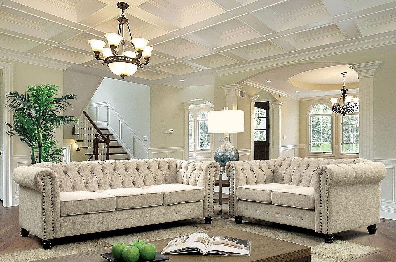 Winifred Living Room Set (Ivory)