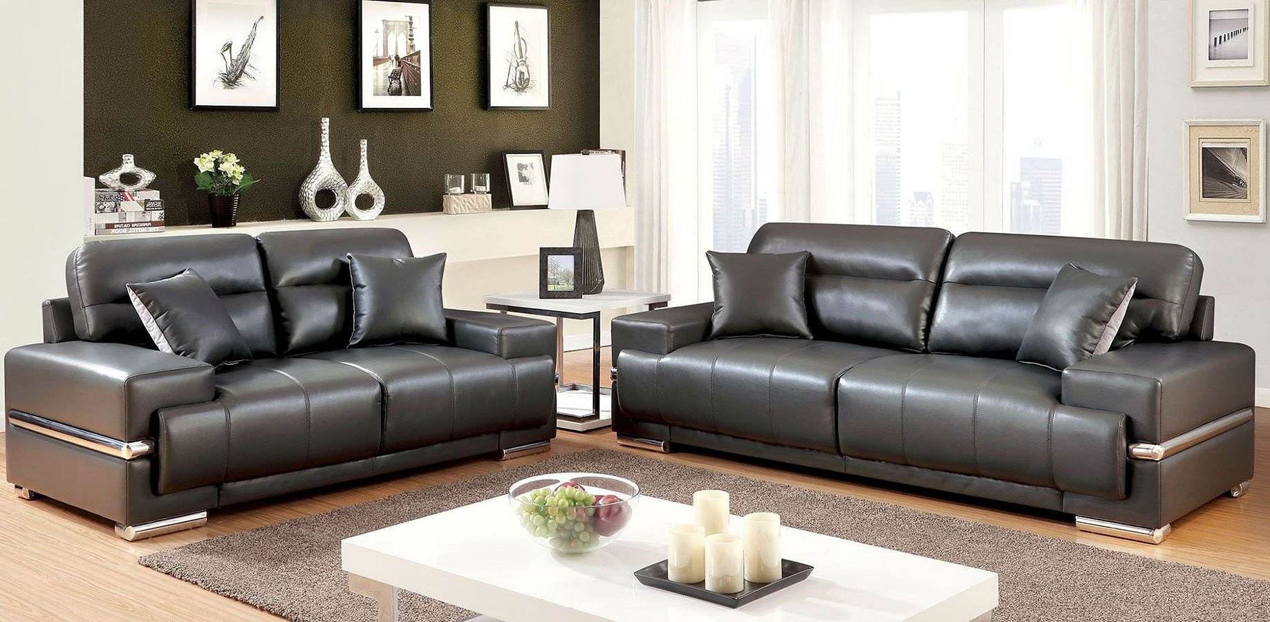 Zibak living room set gray living room sets living for M s living room furniture