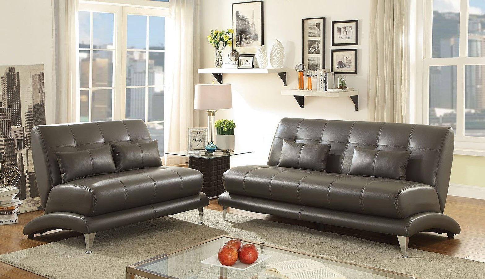 892 The Paradigm Living Room Set Grey: Sherri Living Room Set (Gray) By Furniture Of America
