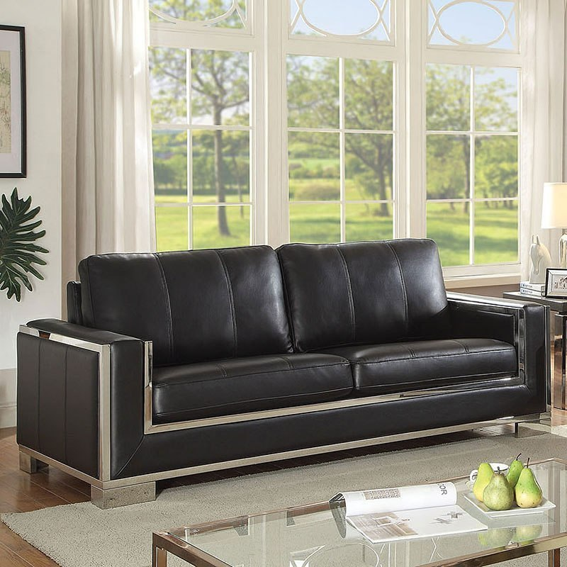 Furniture Of America Living Room Collections: Monika Living Room Set (Black) By Furniture Of America