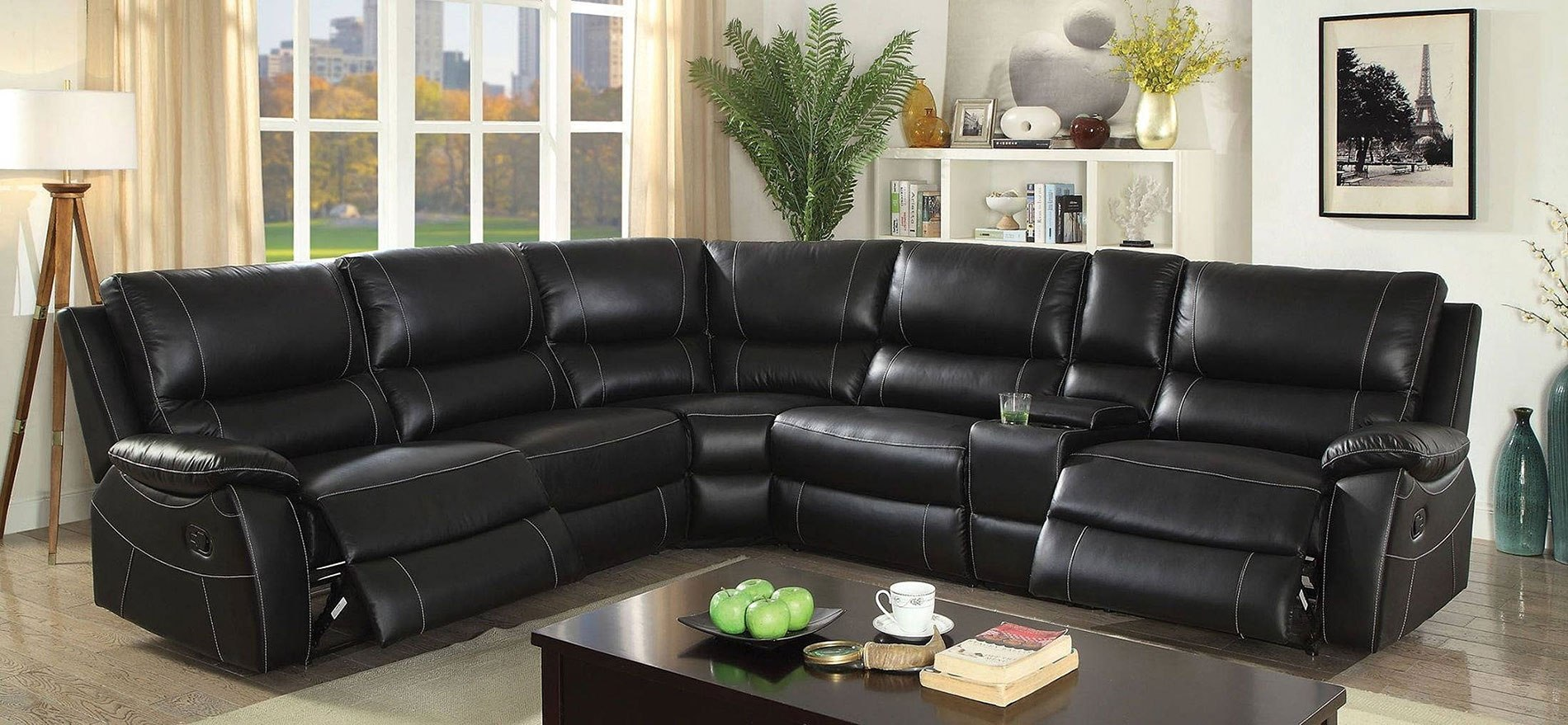 Nena Reclining Sectional By Furniture Of America