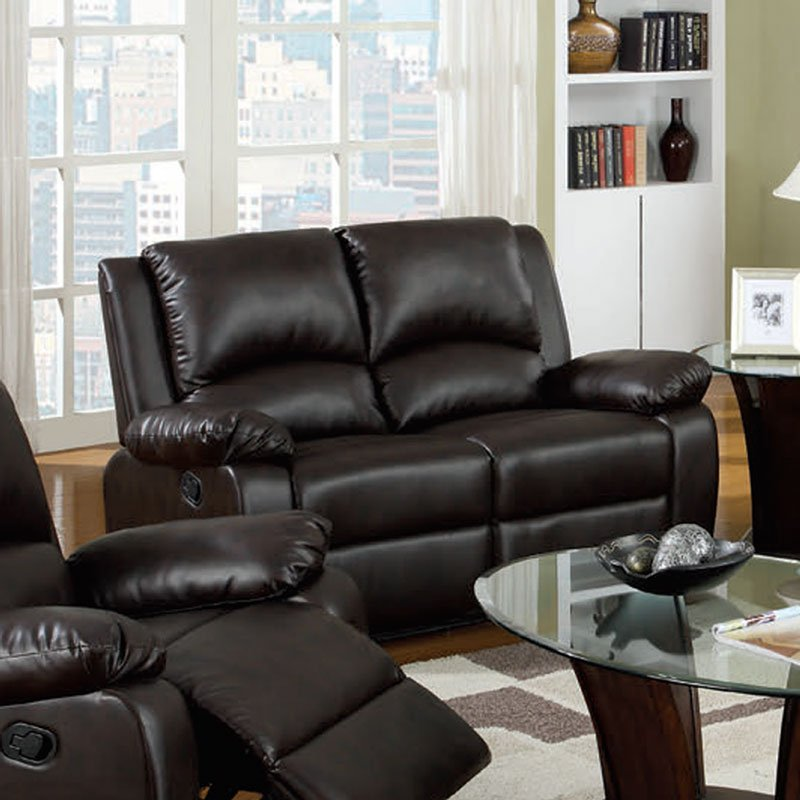 Living Room Bar Oxford: Oxford Reclining Loveseat By Furniture Of America