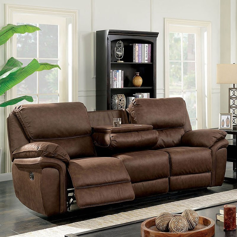 Helga Reclining Sofa W Fold Down Console Living Room Furniture