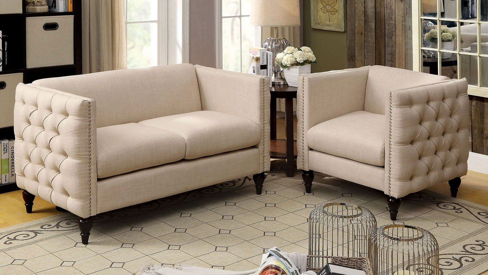 Emer beige living room set