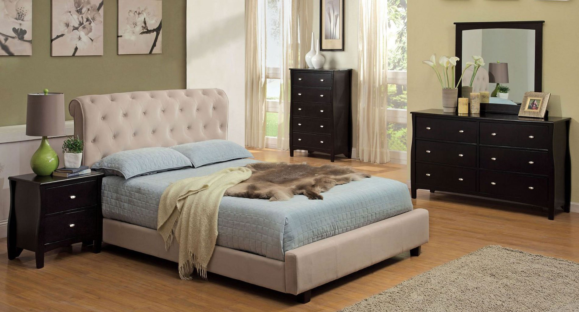 Milano Bedroom Set W/ Lemoore Bed By Furniture Of America