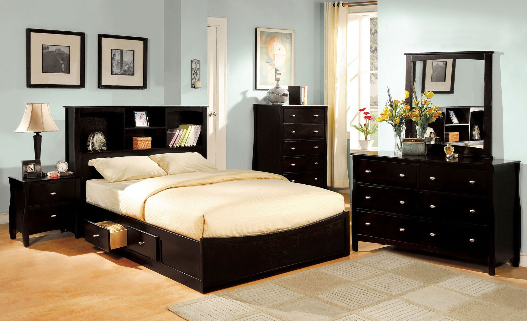 Milano Bedroom Set W/ Brooklyn Bed By Furniture Of America