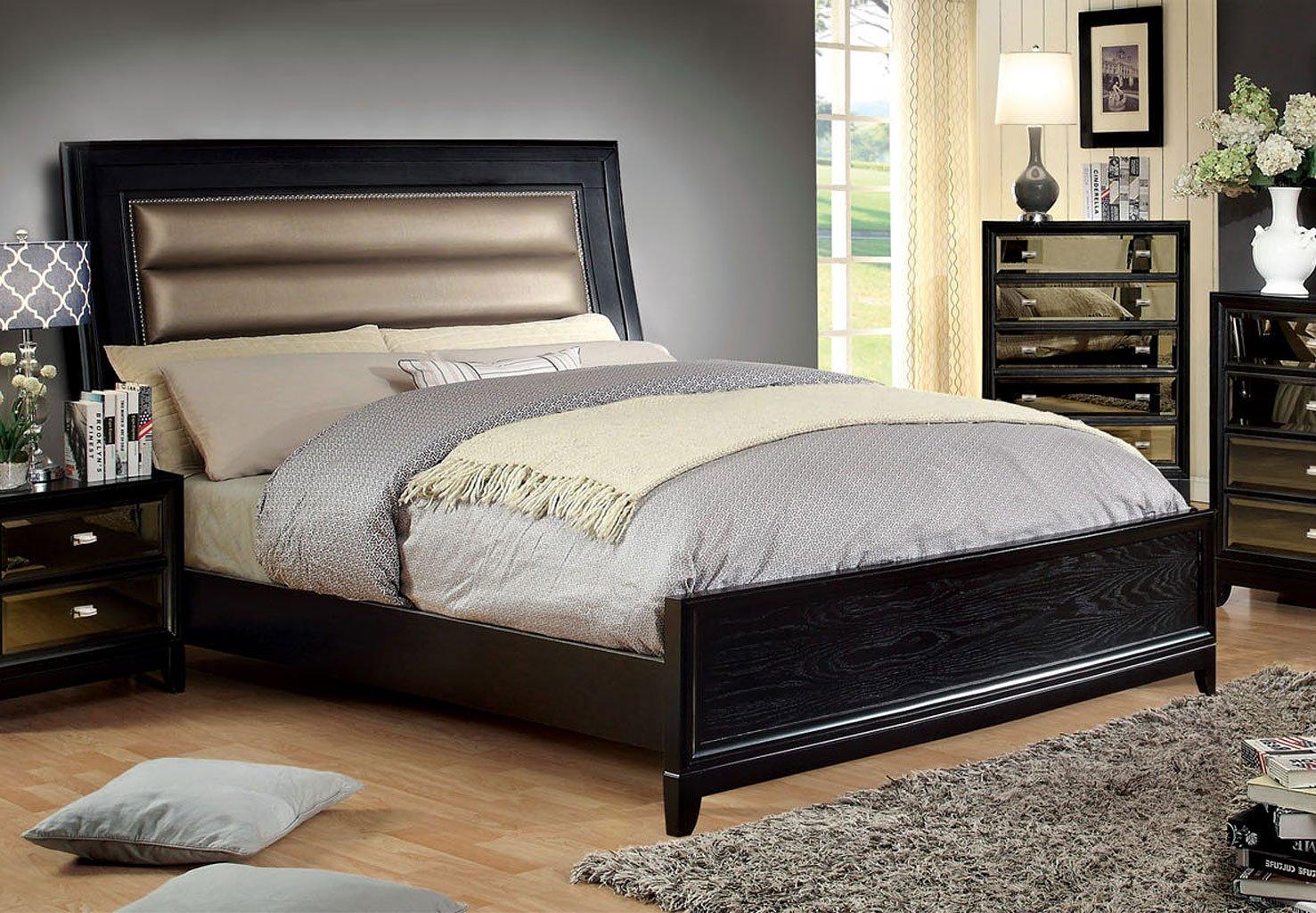 Golva Low Profile Bed Black Beds Bedroom Furniture