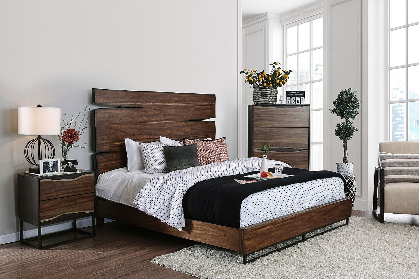 Fulton Panel Bedroom Set By Furniture Of America