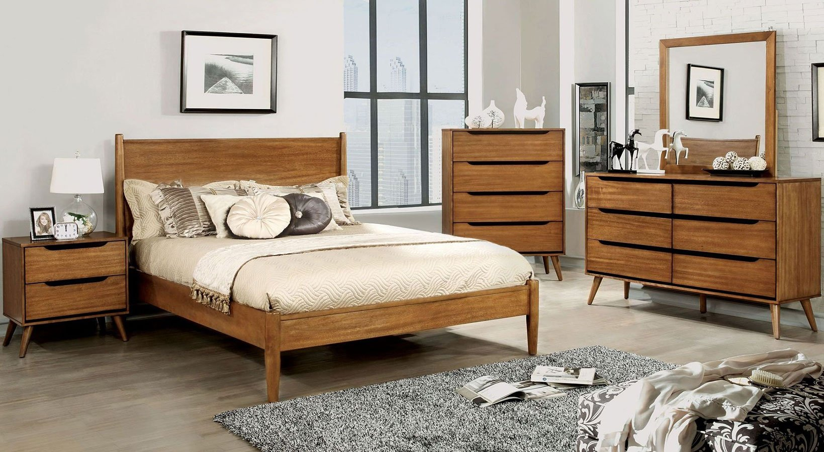 Lennart Bedroom Set (Oak)