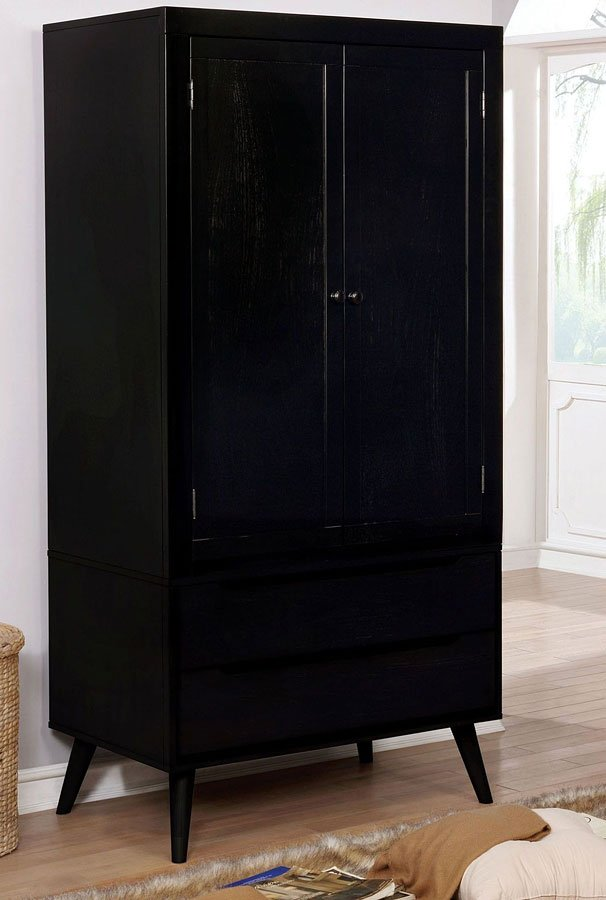 Lennart Armoire (Black) by Furniture of America ...